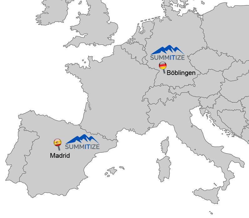 About us: SUMMITIZE in Madrid, Spanien und Böblingen, Deutschland
